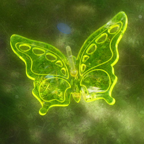 Light Catcher 3D butterfly Yellow